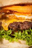 Delicious egg and bacon cheeseburger Royalty Free Stock Photo