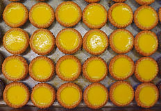Delicious egg custard tart in Asia Stock Photos