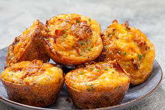 Delicious egg muffins Royalty Free Stock Photos