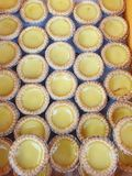 The delicious egg tart which is filled with egg custard and baked royalty free stock photos