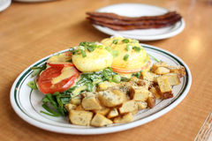 Delicious eggs florentine Royalty Free Stock Photos