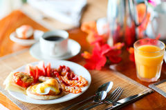 Delicious eggs served for breakfast Royalty Free Stock Photography