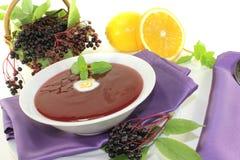 Delicious elderberries soup Stock Photos