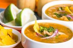 Delicious encebollado fish stew from Ecuador Royalty Free Stock Photography