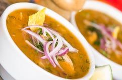 Delicious encebollado fish stew from Ecuador Royalty Free Stock Photo