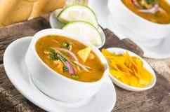 Delicious encebollado fish stew from Ecuador Royalty Free Stock Images