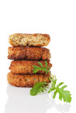 Delicious falafel pile. Stock Photography