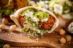 Delicious falafel snack Stock Photos