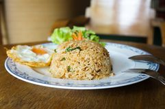 Fried rice with pork royalty free stock image