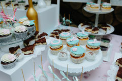 Delicious fancy wedding cake Royalty Free Stock Images