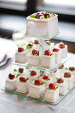 Delicious fancy wedding cake made of cupcakes Royalty Free Stock Photography