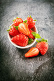 Delicious farm fresh juicy strawberries Stock Photography