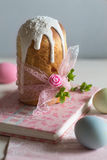 Delicious feast of Easter spring. Spring is the beginning of life, books and cake for the spring holiday Easter Stock Image