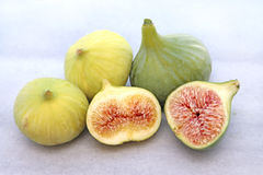 Delicious figs, close up image Stock Photos