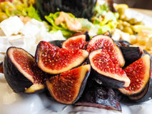 Delicious figs in fruit salad Stock Photo
