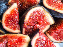 Delicious figs in fruit salad Stock Images