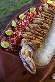 Delicious fish cooking in Brazil Stock Photo