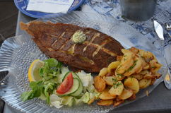 a delicious fish dish from greece Stock Photography