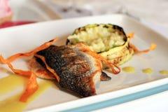 Delicious fish plate Stock Photos