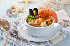 Delicious fish soup Stock Photography