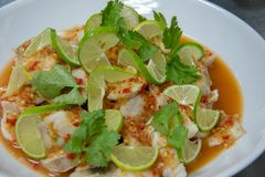 Delicious Fish Spicy Salad Thai Food Royalty Free Stock Images