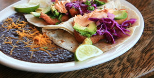 Delicious Fish Tacos Royalty Free Stock Photo