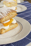 Delicious flaky puff pastry Royalty Free Stock Photo
