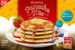 Free Delicious Fluffy Pancake Ad Royalty Free Stock Image - 120075836