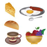 Delicious food for breakfast Royalty Free Stock Image