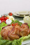 Delicious food with chicken Royalty Free Stock Images