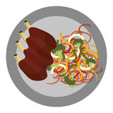 Delicious food and gastronomy graphic isolated flat design. Stock Image