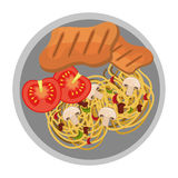 Delicious food and gastronomy graphic isolated flat design. Stock Photography