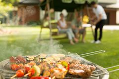 Delicious food on the grill Royalty Free Stock Images