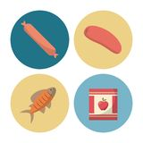 Delicious food icons. Icon vector illustration graphic design royalty free illustration