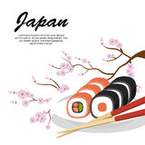 Delicious food japanese icon. Vector illustration design Stock Image