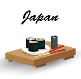 Delicious food japanese icon. Vector illustration design Stock Images
