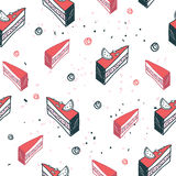 Delicious food seamless background pattern cake dessert Royalty Free Stock Photos