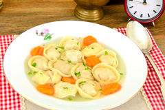 Delicious Food: Soup Dumplings and Carrot Royalty Free Stock Photography