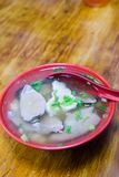 Clear broth soup with slice pork and kidney. Delicious food staple of Taiwan clear broth soup with slice pork and kidney stock photography