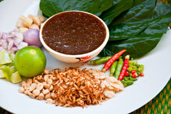 Delicious Food In Thailand Called Miang Kham Stock Image