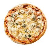 Delicious four cheeses Italian pizza Royalty Free Stock Photography
