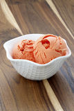 Delicious freash mandarin ice cream Stock Images