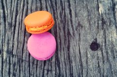 Delicious French macaroons - Delicious French pastries. Royalty Free Stock Image