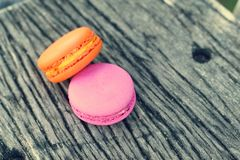Delicious French macaroons - Delicious French pastries. Stock Photo