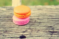 Delicious French macaroons - Delicious French pastries. Royalty Free Stock Photography