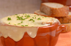 Delicious French Onion Soup Stock Images