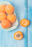 Delicious fresh apricots Stock Image