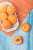 Delicious fresh apricots Royalty Free Stock Images