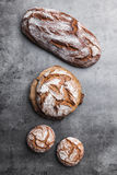 Delicious fresh bread on rustic background Royalty Free Stock Image