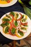 A delicious fresh capri salad Stock Photos